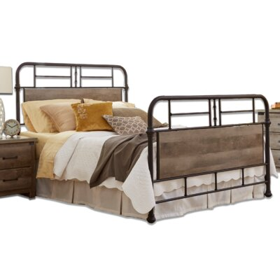 Restoration Metal Panel Bed Size: Queen