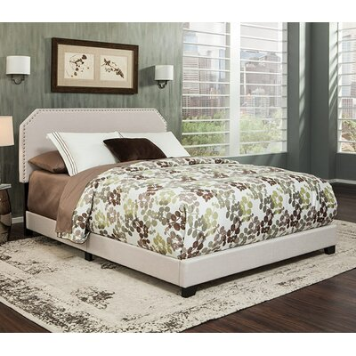 Kingsford Panel Bed Color: Beige, Size: King