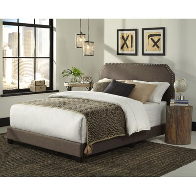 Kingsford Panel Bed Upholstery: Brown, Size: King