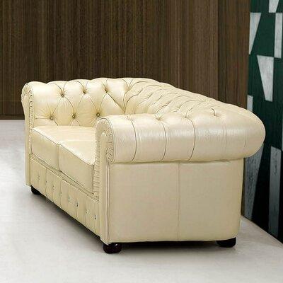 Keomi Leather Loveseat