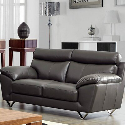 Deziree Leather Loveseat
