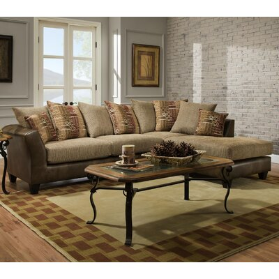 Herzog Sectional Color: Brown