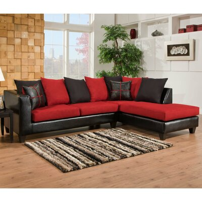 Brunswick Sectional Color: Red