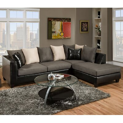 Brunswick Sectional Color: Black