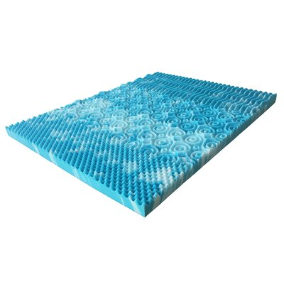 4 Memory Foam Mattress Topper Bed Size: King