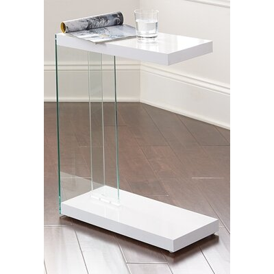 Chaunie End Table Color: White