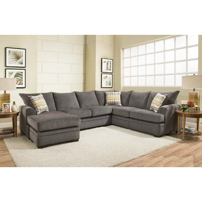 Ramsdell Reversible Sectional with Ottoman Upholstery: Smoke