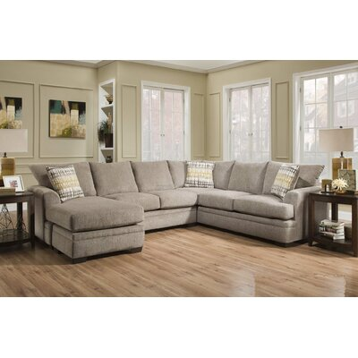 Ramsdell Reversible Sectional with Ottoman Upholstery: Pewter