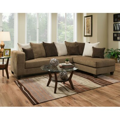 Ranallo Sectional Upholstery: Brown