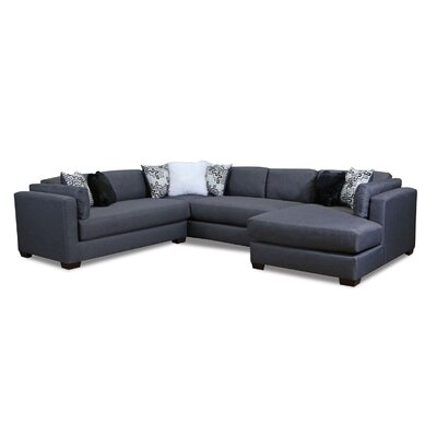 Twitchell Extra Plush Sectional Upholstery: Smoke