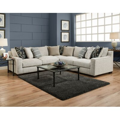 Harristown Sectional Upholstery: Stone