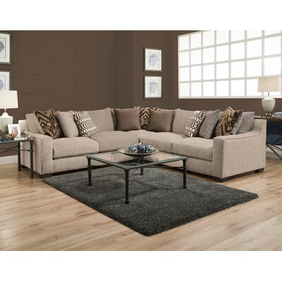 Harristown Sectional Upholstery: Brown