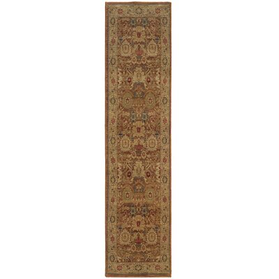 Barrows Rust/Gold Area Rug Rug Size: Runner 111 x 76