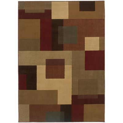 Garmon Red/Tan Area Rug Rug Size: Rectangle 910 x 129