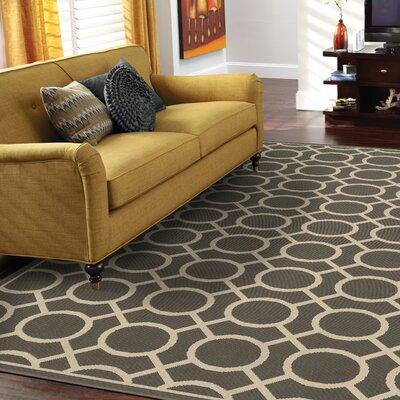 Melin Geometric Gray/Ivory Indoor/Outdoor�Area Rug