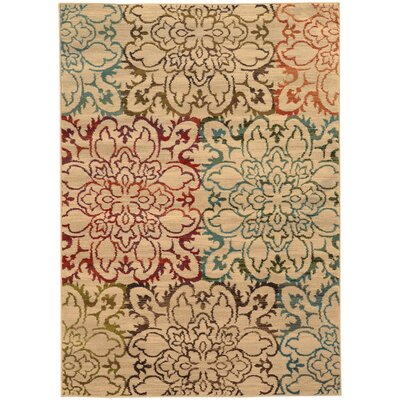 Bienville Hand-Woven Ivory Area Rug Rug Size: Rectangle 5 x 76