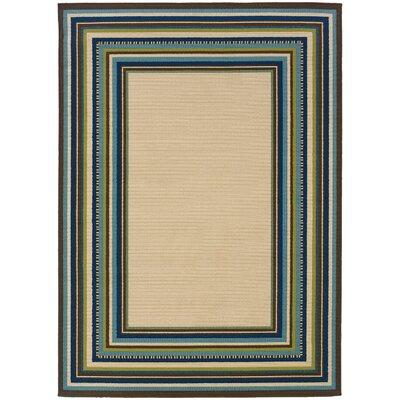 Eisenman Ivory/Blue Indoor/Outdoor�Area Rug