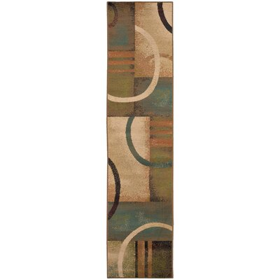 Bienville Brown/Gold Area Rug Rug Size: Runner 11 x 76