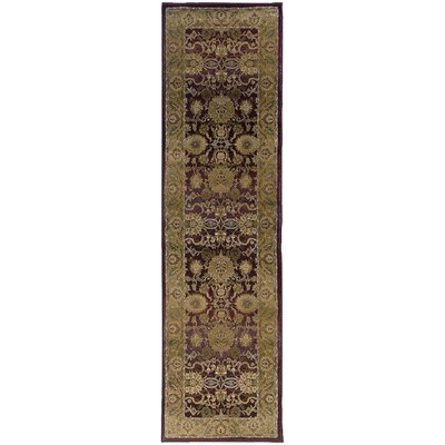 Ferrer Purple/Gold Area Rug Rug Size: Runner 23 x 76