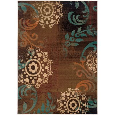 Bienville Brown/Blue Area Rug Rug Size: Rectangle 67 x 96