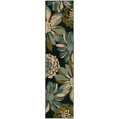 Bienville Teal/Ivory Area Rug Rug Size: Rectangle 5 x 76