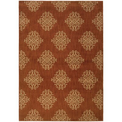 Alfreda Orange Area Rug Rug Size: Rectangle 910 x 1210