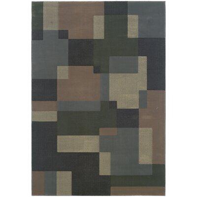 Melitta Geometric Blue/Beige�Area Rug Rug Size: Rectangle 53 x 79