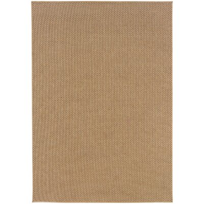 Orris Sand Indoor/Outdoor Area Rug Rug Size: Rectangle 5'3