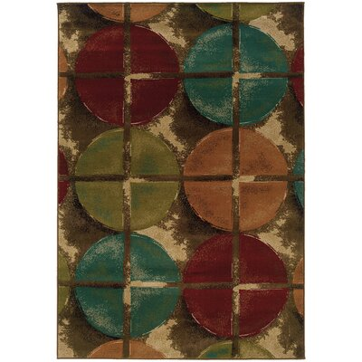 Bienville Contemporary Brown/Teal Area Rug Rug Size: Rectangle 10 x 13