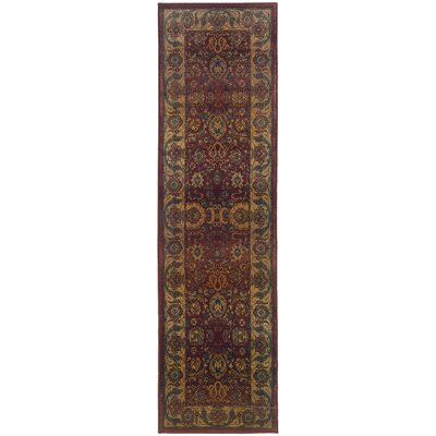 Pressley Brown Area Rug Rug Size: Runner 26 x 91