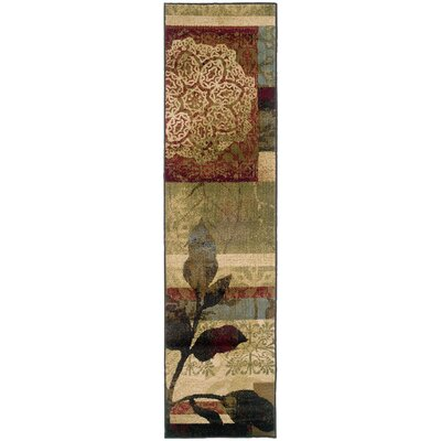 LeClaire Ivory/Green Area Rug Rug Size: Runner 11 x 76