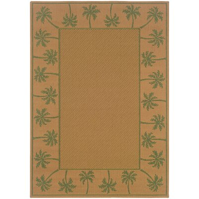 Goldenrod Beige/Green Indoor/Outdoor Area Rug Rug Size: Rectangle 25 x 45