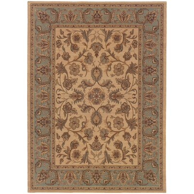 Coar Beige/Blue Area Rug Rug Size: Rectangle 57 x 710