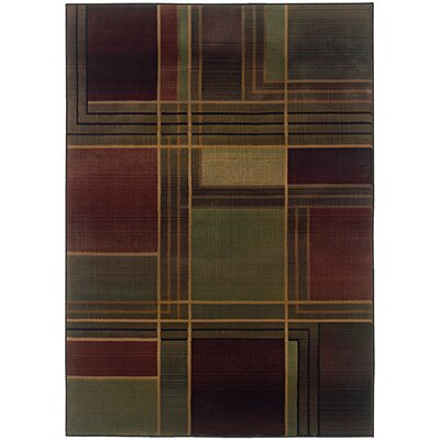 Hinson Green/Purple Area Rug Rug Size: Rectangle 67 x 91