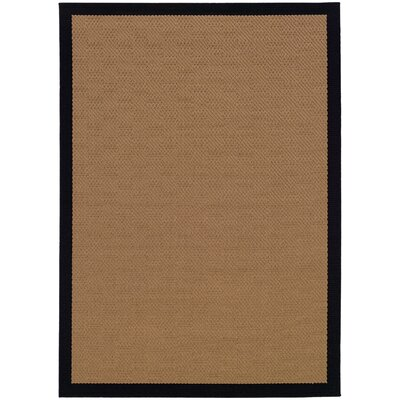 Weatherton Beige Outdoor Area Rug Rug Size: Rectangle 37 x 56