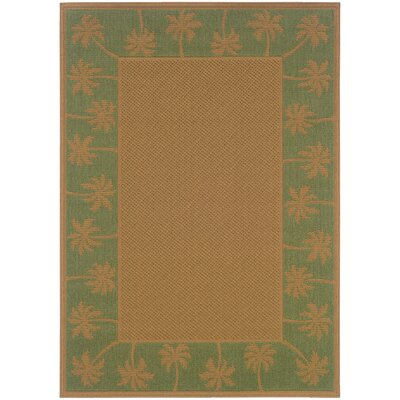 Goldenrod Beige/Green Indoor/Outdoor Area Rug Rug Size: Rectangle 37 x 56
