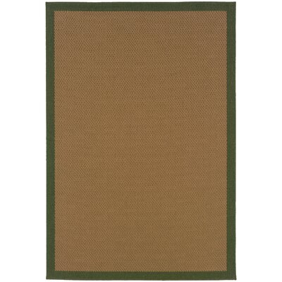 Goldenrod Brown Indoor/Outdoor Area Rug Rug Size: Rectangle 18 x 37