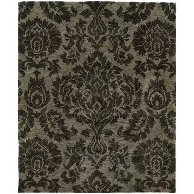 Lanesborough Hand-Tufted Gray Area Rug Rug Size: Rectangle 36 x 56