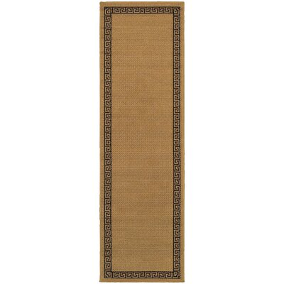 Houlton Beige/Black Indoor/Outdoor Area Rug Rug Size: Runner 23 x 76