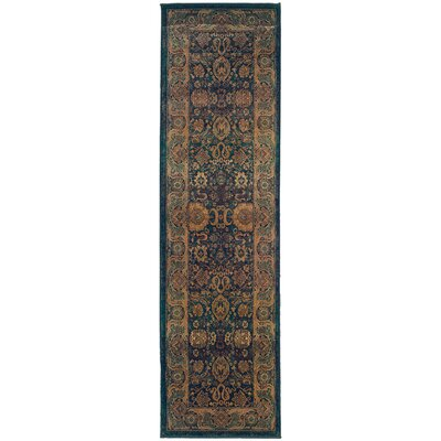 Pressley Brown/Green Area Rug Rug Size: Rectangle 23 x 76