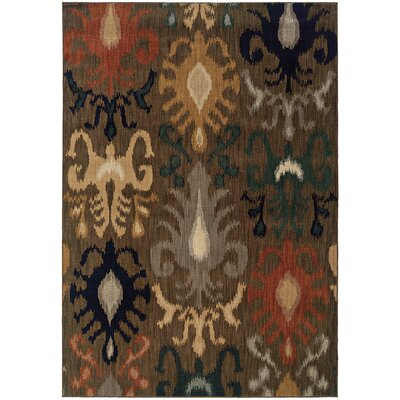 Johan Brown/Gray Area Rug Rug Size: Rectangle 53 x 76