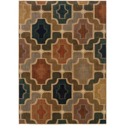 Nolan Blue/Beige Area Rug Rug Size: Rectangle 53 x 76