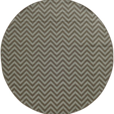 Heath Grey/Blue Chevron Indoor/Outdoor Area Rug Rug Size: Round 710