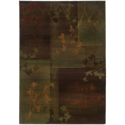 Hinson Purple/Green Area Rug Rug Size: Rectangle 53 x 76
