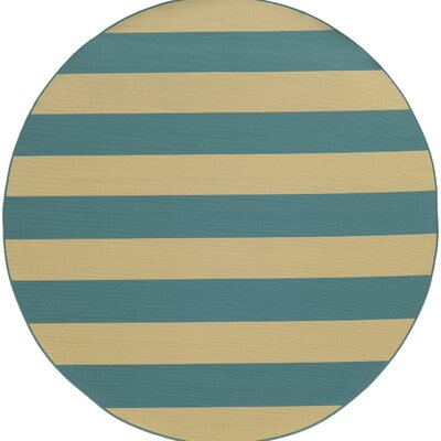 Alford Dark Teal Indoor/Outdoor Area Rug Rug Size: Round 710