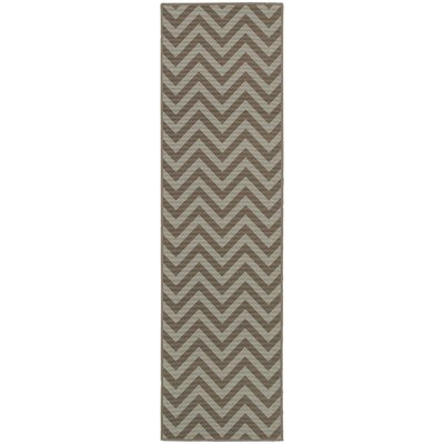 Heath Grey/Blue Chevron Indoor/Outdoor Area Rug Rug Size: Runner 23 x 76