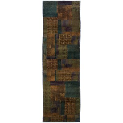Hinson Blue/Green Area Rug Rug Size: Rectangle 23 x 45