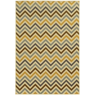 Heath Gray/Gold Indoor/Outdoor Area Rug Rug Size: Runner 23 x 76