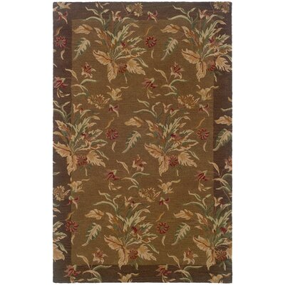 Brierley Hand-made Tan/Brown Area Rug Rug Size: Rectangle 5 x 8