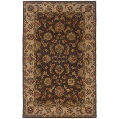 Vinoy Hand-made Brown/Beige Area Rug Rug Size: Rectangle 36 x 56